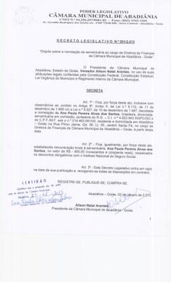 Decreto Legislativo n° 001-2013