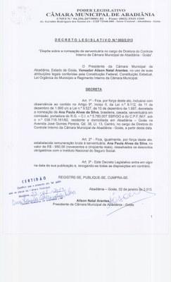 Decreto Legislativo n° 002-2013