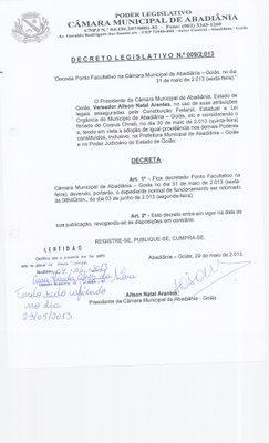 Decreto Legislativo n° 009-2013
