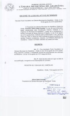 Decreto Legislativo n° 010-2013