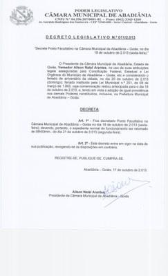 Decreto Legislativo n° 011-2013