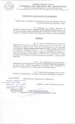 Decreto Legislativo n° 001-2014