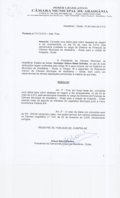 Portaria n° 011-2013