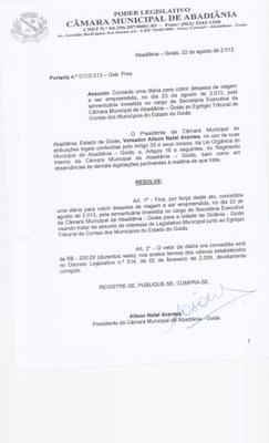 Portaria n° 017-2013