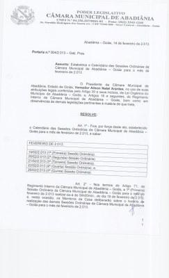 Portaria n° 004-2013