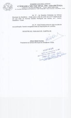 Portaria n° 013-2013