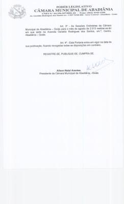 Portaria n° 015-2013